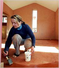 earthen floor installtion