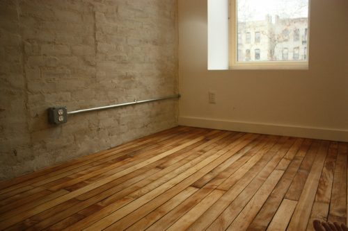 100-year-old maple floorboards in Harlem