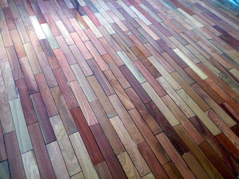 Sanded salvaged floor