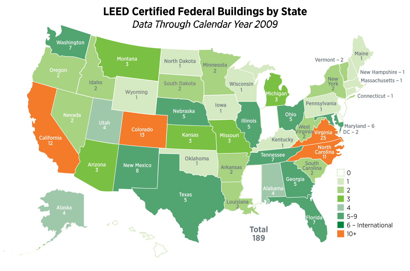 Review and critique of leed eco brooklyn a great diagram of federal buildings that are leed certified by state xflitez Choice Image