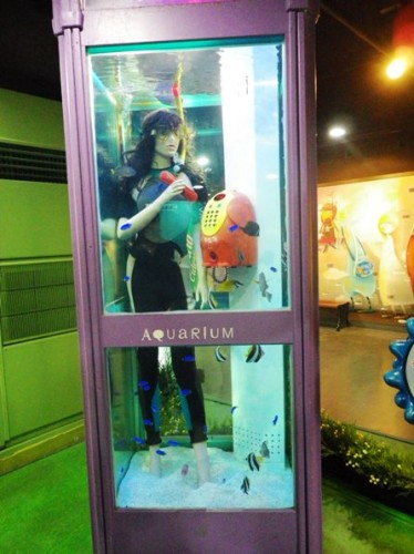 fish tank telephone booth