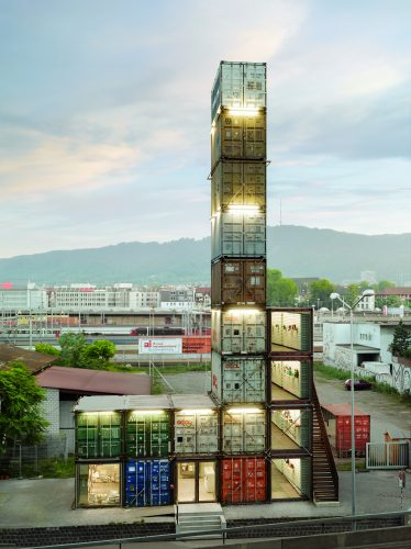 Freitag Store is World's Tallest Shipping Container Structure