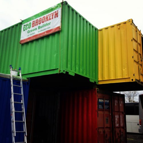 Eco Brooklyn built this 1,500sq.ft container building as an art studio space for a client in Brooklyn.
